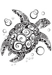 Turtle,Sea,Vector,Drawing -...