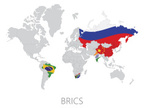 brics,World Map,Banner,Glob...
