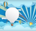 Hot Air Balloon,Vector,Pape...