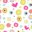 Cute,Floral Pattern,Vector,...