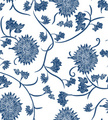 Blue,Floral Pattern,Porcela...