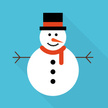 Snowman,Flat,Greeting Card,...
