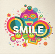 Smile inspirational quote poster design