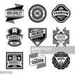 Assorted designs vector black and white vintage badges 6.