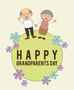 Cartoon,Grandfather,Grandmo...