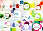 Set of circle abstract backgrounds.