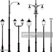 Old,Electric Lamp,Street,Sh...