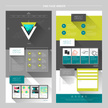 modern geometric one page website template