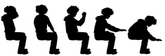 Silhouette,Vector,Sitting,G...