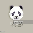 panda`s head low poly geometric polygonal flat design element