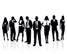 People,Silhouette,Group Of People,Business,Suit,Businessman,Manager,One Person,Businesswoman,Office Interior,Men,Professional Occupation,Meeting,Adult,Young Adult,Backgrounds,Occupation,File Clerk,Male,Team,Ilustration,Women,Design,Standing,White,Vector,Black Color