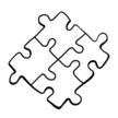 Black And White,Puzzle,Sket...