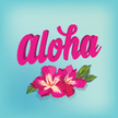 Aloha,Beach,Sign,Tropical C...