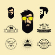 Beard,Badge,Men,Ilustration...