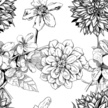 Floral Pattern,Black And Wh...
