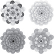 Flower,Vector,Grayscale,Ill...