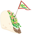 Taco,Mexico,Flag,Number 5,F...