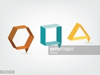 Modern 3 D stylized shapes for icons