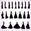 Set of wedding dresses
