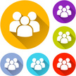 Group Of People,People,Computer Icon,Simplicity,Flat,Orange Color,Blue,Design,Sign,Partnership,Red,Green Color,Team,Teamwork,Interface Icons,Vector