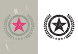 Star Shape,Grunge,Badge,Sig...