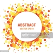 Orange - Yellow Bright Spring Abstract Circle Frame Design Element