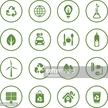 Ecology and recycling related green icons