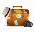Brown,Suitcase,Travel,Time,...