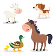 Animal Themes,Cartoon,Animated Cartoon,Animal,Livestock,Mammal,cute animals,mother and child,Isolated,People,Vector,Smiling,Zoo,Mother,Facial Expression,Cute,Comic Book,Humor,Dog,Duck Meat,Goat,Portrait,Duck,Horse,Barn,White,Meadow,Cartoon Animals,Boredom,Set,Collection,Cheerful,Pets,Cute Animal,Ilustration,Painted Image,Brown,Characters,Agriculture,Duckling,Happiness,Farm,Puppy
