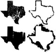 Texas,Outline,state,Map,Car...