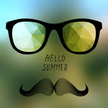 Mustache,Summer,Vector,Back...