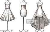 Long,Cut Out,Vector,Dress,M...
