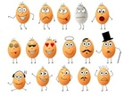 Set of funny eggs