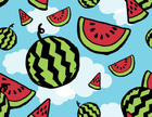 Watermelon,Pattern,Fruit,Ba...