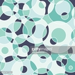 Modern seamless pattern with colorful circles and semicircles.
