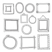 Set of hand drawn vector frames.