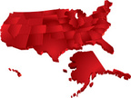 USA,Map,Three-dimensional S...