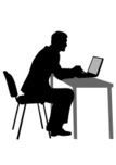 Computer Graphics,People,Chair,Table,Desk,Telephone,Business,Technology,Office,Human Body Part,Profile View,Professional Occupation,Writing,Typing,Desktop PC,Laptop,Silhouette,Computer Graphic,Adult,Cut Out,Office Chair,Illustration,Men,Businessman,Vector,White Collar Worker,Computer,Wireless Technology,Produced,2015,61505,Secretary,The Human Body