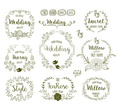 Wreath,Label,Wedding,Rose -...