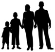 Family,Silhouette,Child,Peo...
