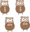 Vector,Owl,Tie,Bow Tie,Red,...