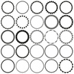 Collection of Round Decorative Border Frames with Clear Background