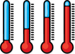 Thermometer,Heat Wave,Tempe...