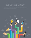 flat development template vector