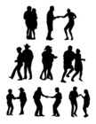 Zydeco,Dancing,Silhouette,P...