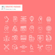 Set of thin lines web icons for graphic and web design