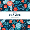 Fun Flowers design template. Vector illustration