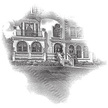 Castle,Engraving,House,Resi...