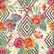 Computer Graphics,Bouquet,Carpet - Decor,Curtain,Nature,Botany,Pattern,Textile,Branch,Leaf,Flower Head,Petal,Summer,Decoration,Backgrounds,Computer Graphic,Stencil,Ornate,Abstract,Illustration,No People,Vector,Fashion,Backdrop,Scrapbook,Arts Culture and Entertainment,2015,Wallcovering,Seamless Pattern,painted flowers