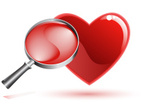 Heart Shape,Magnifying Glas...